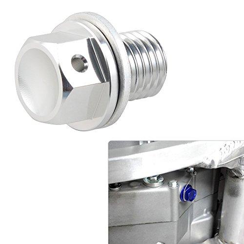 H2Racing Motor Silber M12 x P1.5 Magnetisch Ölablassschraube Schrauben für NC700S/X/ABS 750S/X RVT1000R RC51 VTR1000SP1/2 Scooter CHF50 NPS50,VFR400R/750F RVF750/R VFR800A Interceptor ABS