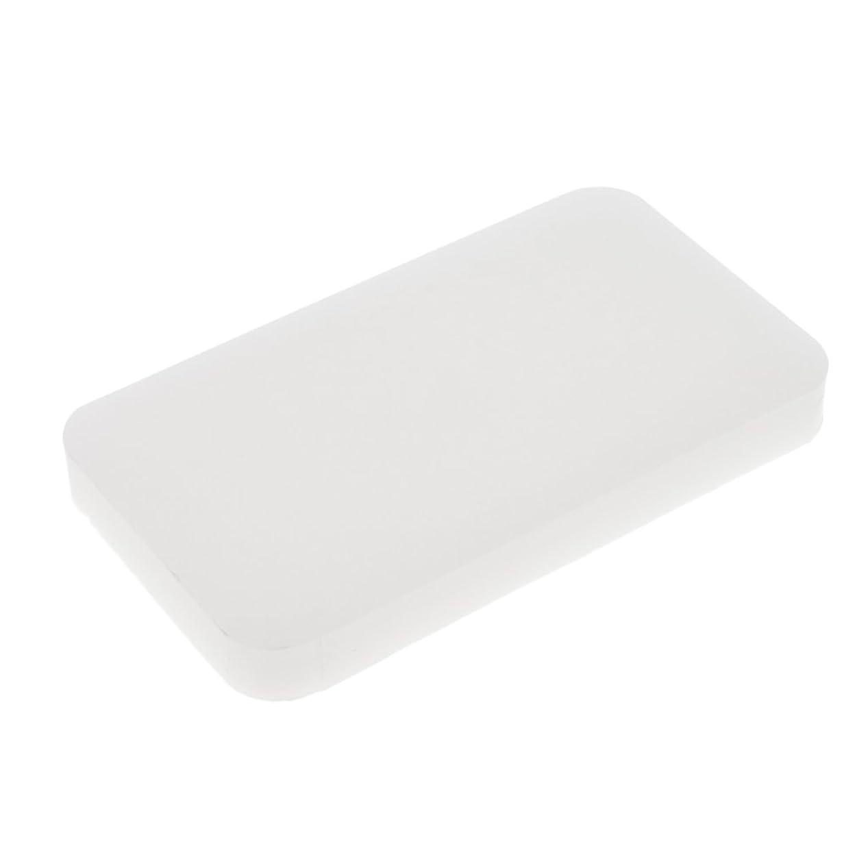 悪因子言語レイアウトPerfk まつ毛ホルダー つけまつげ まつ毛 拡張スタンド 白い メイクアップ 化粧道具