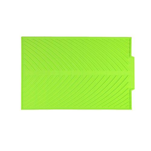 Bestonzon Tapis de tapis d'évier Égouttoir en silicone pour comptoir de cuisine (Vert)