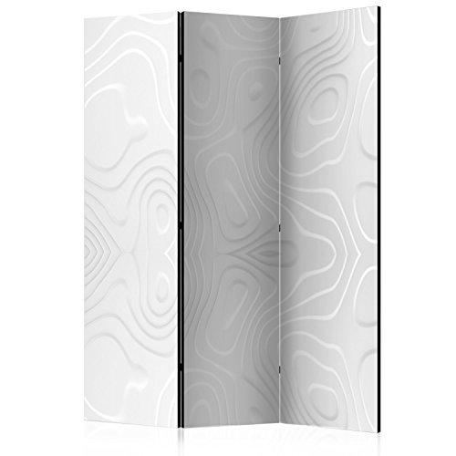 murando Raumteiler Abstrakt Foto Paravent 135x172 cm einseitig auf Vlies-Leinwand Bedruckt Trennwand Spanische Wand Sichtschutz Raumtrenner Home Office weiß a-B-0059-z-b