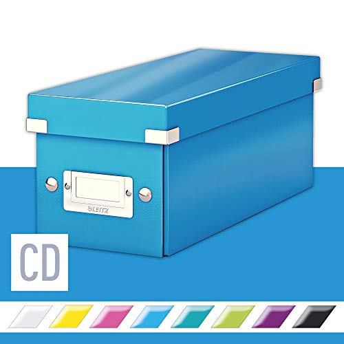 Leitz Caja para guardar CD, Azul, Click and Store, 60410036