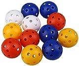 Golf Balls Práctica 24pcs Pelotas de golf de plástico hueco de entrenamiento deportivo Campo de Entrenamiento for de interior Inicio niños de los niños del regalo del golfista Suministros colores mezc
