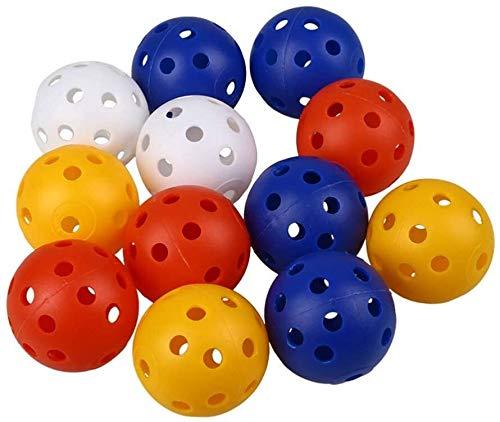 SDFGFGH Golfbälle 24X Praxis Golfbälle Kunststoff-Hohl Sport Golf-Training for Indoor Home Training Kinder Kinder Golfer Gift Supplies Mischfarben
