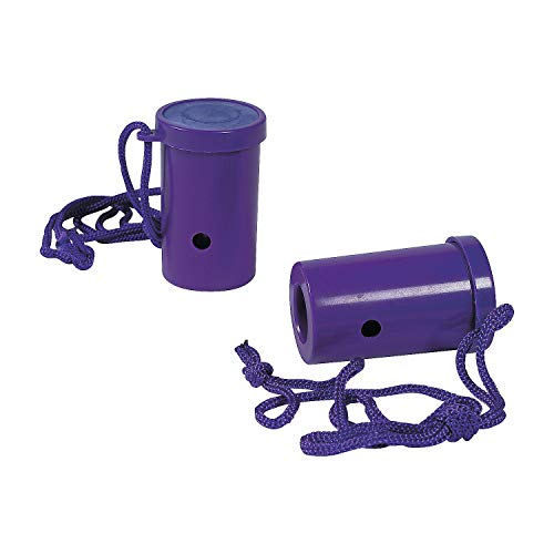 Fun Express - Purple Air Blaster - Toys - Noisemakers - Spirit Noisemakers - 12 Pieces