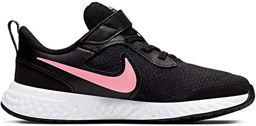 Nike Unisex-Kinder Revolution 5 (PSV) Walkingschuhe, Schwarz (Black/Sunset Pulse 101), 34 EU