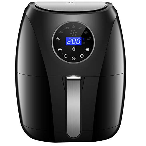 Air Fryer, Habor Turkey Fryer 3.7QT Healthy - 1500W Oilless Quick Multi Cooker Air Fryer with Large Quick Knob, Temperature Controller for Fry, Bake, Grill, and Roast