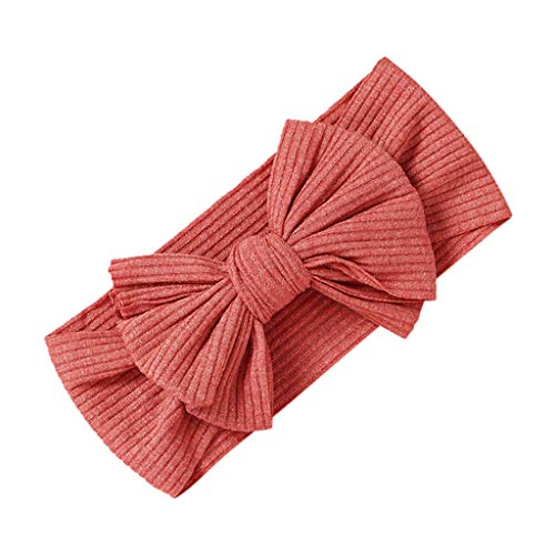 Lazzboy Baby Stirnbänder Mädchen Stretch Gedruckt Turban Stirnband Kopf Verpackung Haarband Girl Infant Feste Haarbänder Und Schleifen Kinderhaarzubehör(Rot)