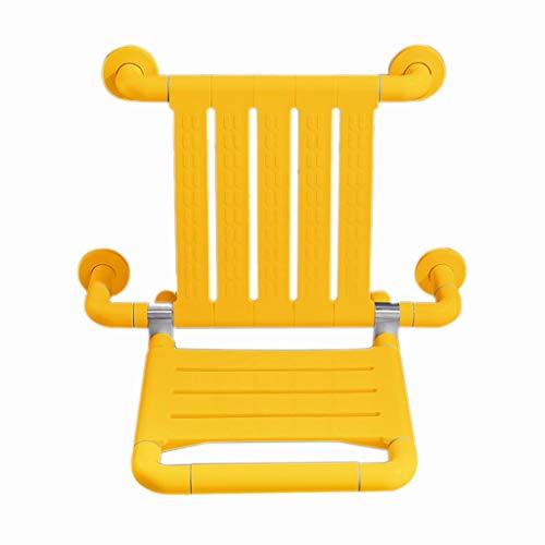 PLHMS opklapbare douchestoel, muurbevestiging, veilig stoeltje voor stoelen, douchestoel, met rugleuning opvouwbare douchestoel voor oudere gehandicapten 250KG/550LB