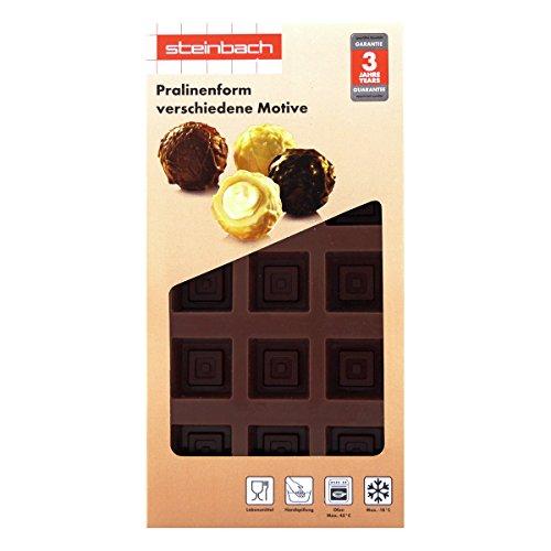 Steinbach Moule à pralines Lot de 2 Moule en Silicone pour 30 chocolats - Würfel