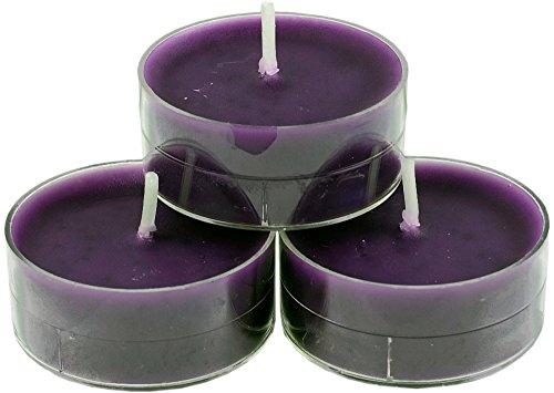 nk candles 20 dänische Teelichter farbig durchgefärbt, Auswahl, von Nordlicht-Kontor (Aubergine - Lila)