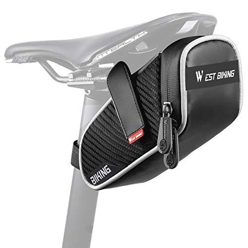 WESTGIRL Fahrrad Satteltasche, Fahrradtasche Wasserdicht Reflektierend, Aufbewahrungstasche für MTB Rennrad Faltrad, Satteltaschen für Mini Fahrradpumpe Fahrrad flickzeug