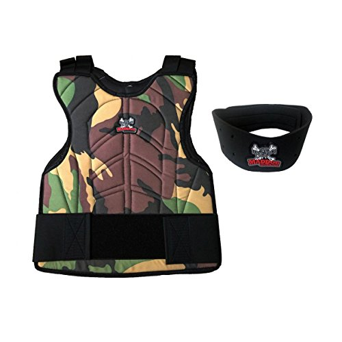 Maddog Sports Padded Chest Protector w/Neck Protector Safety Combo - Camo