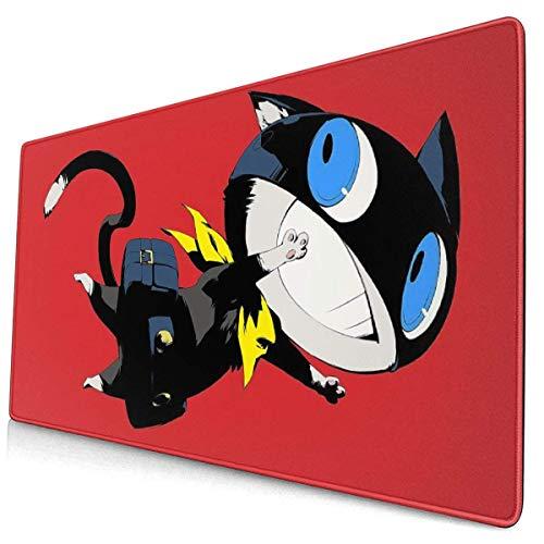 Persona 5 grote muismat computerspel pad 15.8 X 29,5 inch anti-slip rubberen stiksel vergrendeling muismat Desktop muismat voor kantoor/huis, laptop, lange muismat