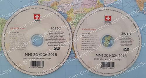 Vukcevic Soft A U D I MMI 2 g High 2018 DVD1 + DVD2 Update Navigation