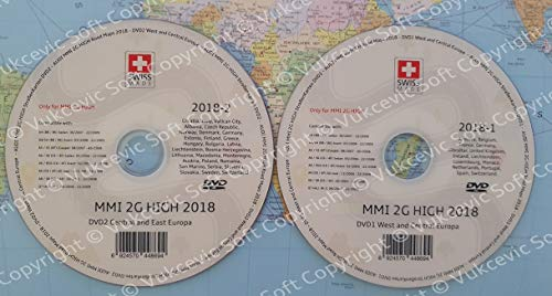 Vukcevic Soft A U D I MMI 2 g High 2018 DVD1 + DVD2 Update Navigation