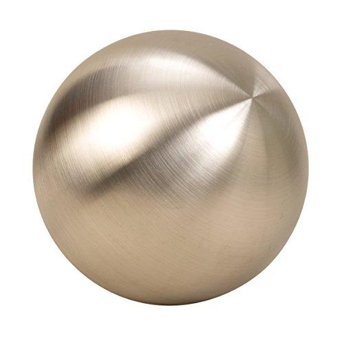 Geschenkestadl XL Dekokugel in Silber matt ca. Ø 25 cm aus Edelstahl Rosenkugel Garten Kugel Weihnachten