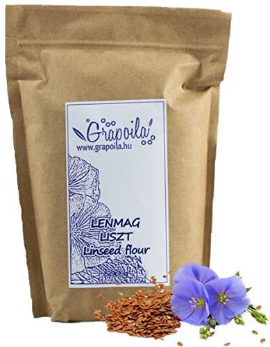 Leinsamenmehl 500g   natürlich ohne Zusätze   vegan   glutenfrei   entölten Samen hergestellt   Leinsamenpulver   Leinsamen gemahlen