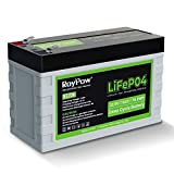 RoyPow 12V 6Ah Lithium Iron Phosphate Battery 3500 Cycles Rechargeable Deep Cycle LiFePO4 Battery Pack FiOS Drop in Replacement of SLA Battery, for RV/Camper, Kid Scooters, Fish Finder
