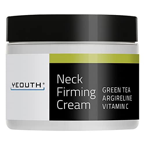 Crema reafirmante para el cuello YEOUTH, Crema antiarrugas hidratante y antienvejecimiento, Ayuda contra la barbilla doble y arrugas del cuello. (2oz)