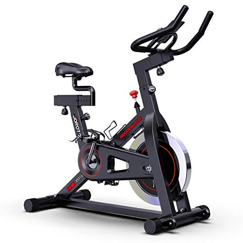 JOROTO Magnetic Exercise Bike Stationary - Belt Drive Indoor Cycling Bikes Trainer Workout Cycle for Home (Suitable Inseam: 29 to 39 inches) ( Model: XM16)