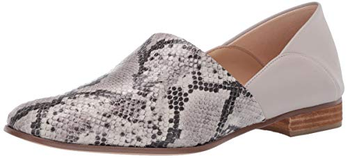 Clarks Pure Tone Womens Loafer Flat Grey Snake 8.5 W