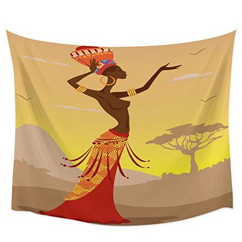 N/A Tapiz Étnico Cultura Nacional La Mujer Africana Que Cuelga Pared Tapices...