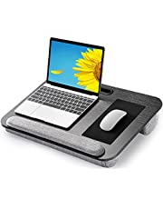 AMERIERGO Lap Desk - Fits Up to 17 Inch Laptop Lap Desk with Dual Cushion, Wrist Rest & Built-in Mouse Pad, Portable Laptop Stand for Sofa & Bed, Multifunctional Slot for Tablet, Pen & Phone- AELD01 photo