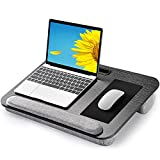 AMERIERGO Lap Desk - Fits Up to 17 Inch Laptop Lap Desk with Dual Cushion, Wrist Rest & Built-in Mouse Pad, Portable Laptop Stand for Sofa & Bed, Multifunctional Slot for Tablet, Pen & Phone- AELD01