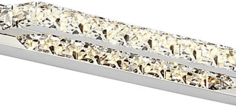 LPZSQ 10W Kristall LED-Badezimmer-Beleuchtung, Modern Moderne LED Integrierte Metall, kühles Wei-90-240V