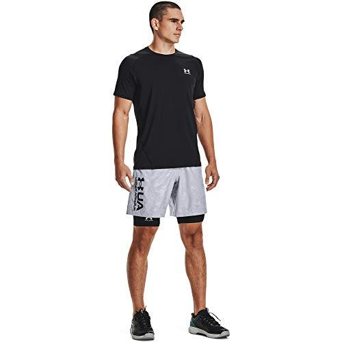 Under Armour UA Team Issue Worldmark - Camiseta Deportiva Transpirable de Manga Corta y cómoda con Corte Holgado, para Hombre, Color Gris y Negro, Talla XS