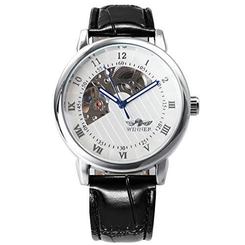 Relojes Royal Golden Men Relojes Mecánicos En Forma De Abanico Esqueleto Dial...