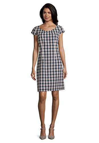 Betty Barclay Damen 1031/1421 Kleid, Mehrfarbig (Dark Blue/Cream 8813), (Herstellergröße: 46)