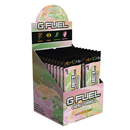 Gfuel 20 Serving Sachet Stick Pack Box - Various Flavours (Rainbow Sherbet)