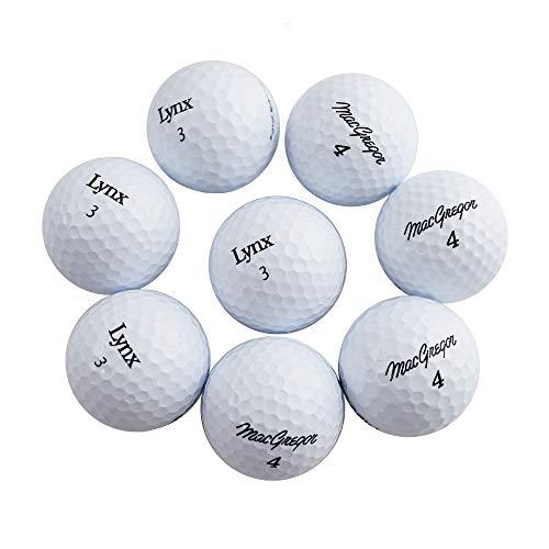 Macgregor/ LYNX/ INTECH/ etc 18 Balls of Assorted Brands Unisex-Adult Mixed 2-Piece Golf Balls Spin Distance Balls Practice Golf Ball- White