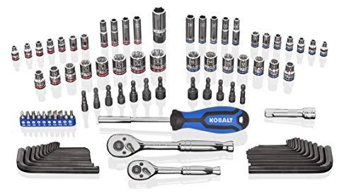 Kobalt 573340 93-Piece 1/4 and 3/8-Inch Drive Mechanic