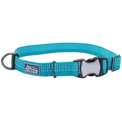 Coastal - K-9 Explorer - Brights Reflective Adjustable Dog Collar, Ocean, 5/8' x 10'-14'