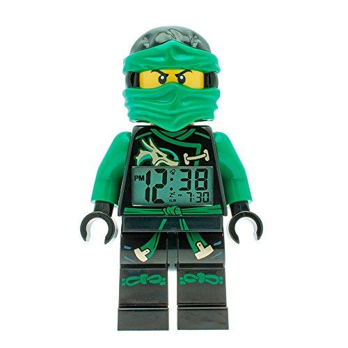LEGO - Despertador infantil de Lego Ninjago Sky Pirates Lloyd de color verde