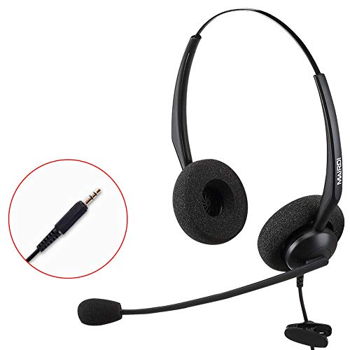 USB-Headset Met Ruisonderdrukking Van Microfoon En Audiobediening Breedband-Pc-Headset Voor Bedrijven UC Skype Lync Softphone Callcenter Kantoorcomputer,3.5MM socket