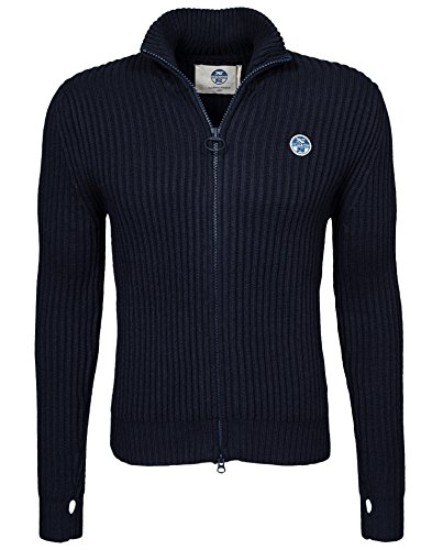 North Sails - MLG 029 Ted - Homme Marine Taille Large 60 % coton, 20 % laine, 20 % nylon.