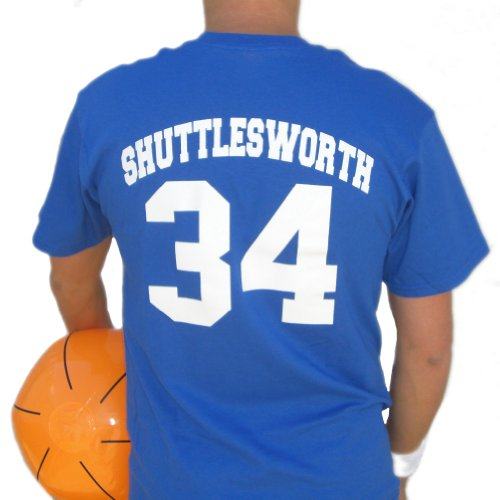Jesus Shuttlesworth Lincoln Jersey Shirt He Got Game Ray Allen Basketball Movie Blue