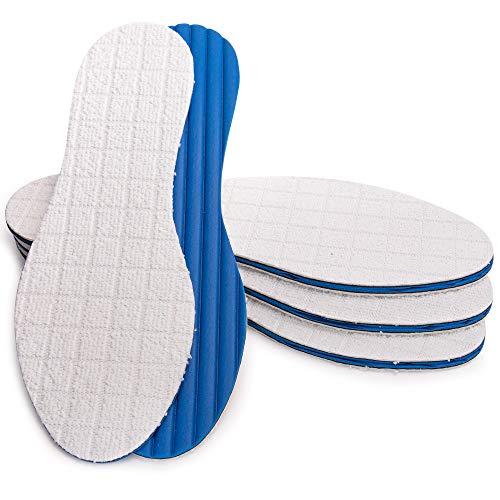 SULPO 4 Paare Einlegesohlen gegen Schweißfüße mit Bambus & Aktivkohle Schuheinlagen für Damen und Herren Einlagen gegen Pilzbefall und Fußgeruch/Größe: 36-47 (47)