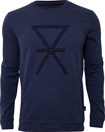 jbs of Denmark T-Shirt à Manches Longues pour Homme, Coupe idéale, Doux au Toucher et Haute respirabilité grâce au Tissu en Coton de Bambou (sans Coutures latérales rayables) - Bleu - L