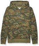 Amazon Essentials Men's Hooded Fleece Sweatshirt, Green Camo Large