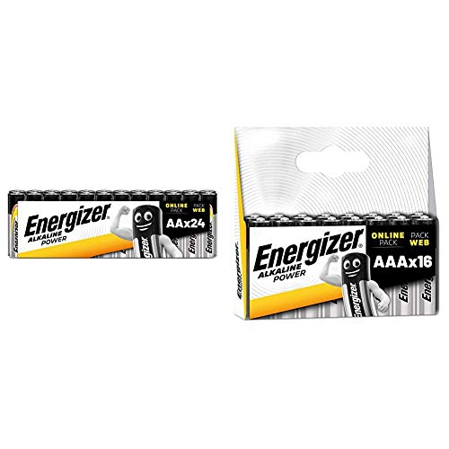 Energizer Batterien AA, Alkaline Power, 24 Stück & Batterien AAA, Alkaline Power, 16 Stück