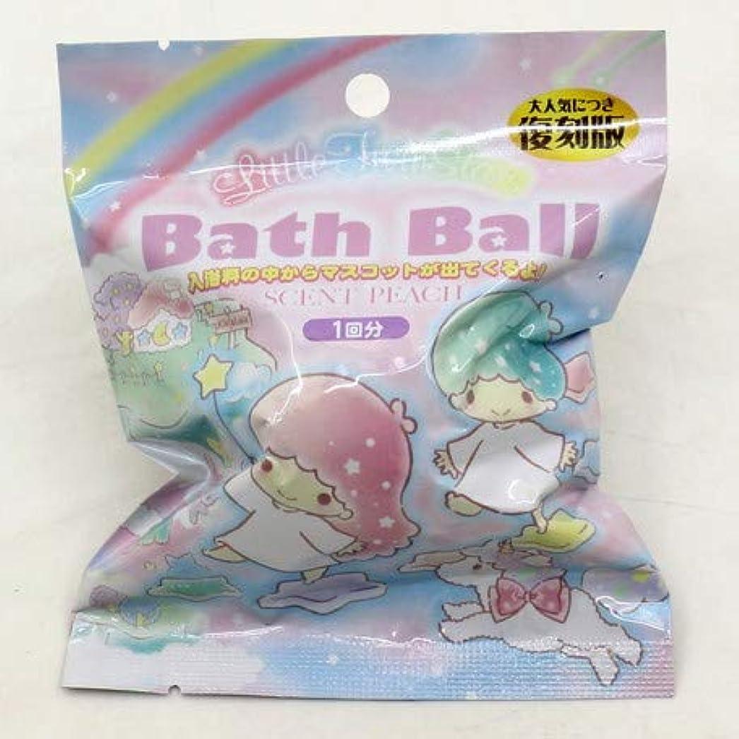 オプショナル加入リトルツインスターズ バスボール 入浴剤 ピーチの香り 6個1セット サンリオ