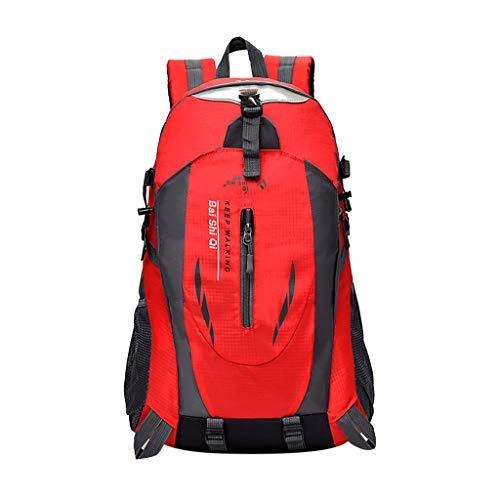 Yowablo 40L wasserdichter Rucksack Rucksack Wandern Camping Trekkingtasche Laptoptasche Sport (40L,Rot)