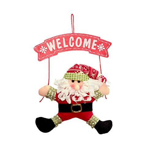 VORCOOL Décoration de Noël Suspendu Arbre de Noël Porte Cintre décoration Pendentif Fournitures (Père Noël)