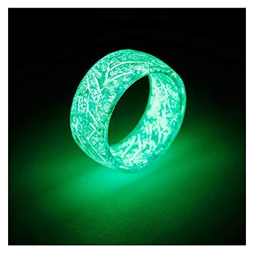 Fanville Luminous Glow Ring im Dunkeln leuchten Schmuck Unisex Dekoration für Frauen Männer