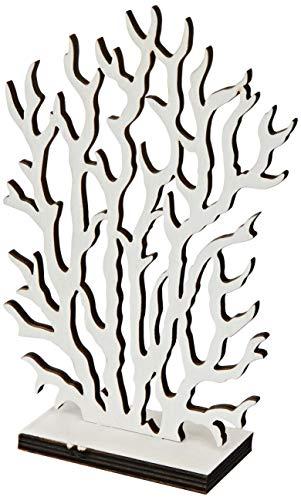 Mopec blanco Figura coral madera 8x19cm, Talla única