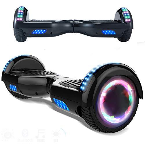 """Magic Vida Hoverboard - 6.5 \""""- Bluetooth - Motore 700 W - Velocità 15 KM / H - LED - Monopattini elettrici autobilanciati - per bambini e adulti - Nero"""
